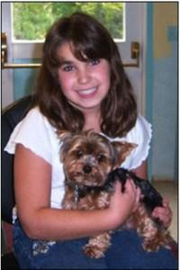 My dog  Buddy with my favorite  niece